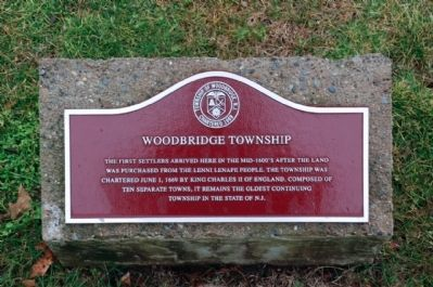 Woodbridge Township - Chartered 1669 image. Click for full size.