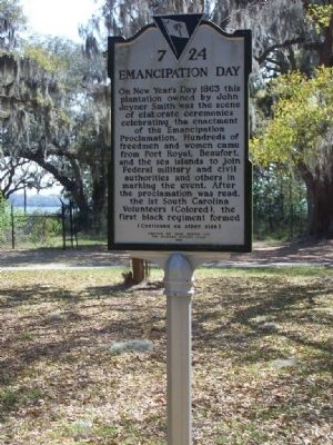 Emancipation Day Marker Photo, Click for full size