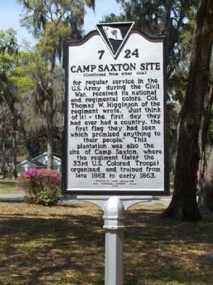 Camp Saxton Site Marker Photo, Click for full size
