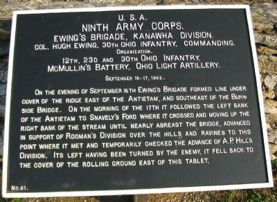Ewing's Brigade Tablet image. Click for full size.