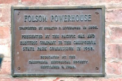 Dedication Plaque outside Powerhouse Building Door image. Click for full size.