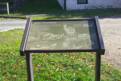Abner Cloud House Marker Photo, Click for full size