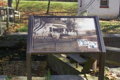 A Canal Home Marker Photo, Click for full size