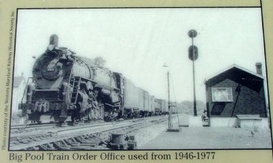 Big Pool Train Order Office used from 1946–1977 image. Click for full size.