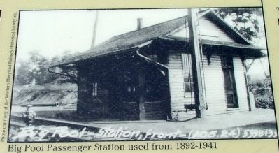 Big Pool Passenger Station used from 1892–1941 image. Click for full size.