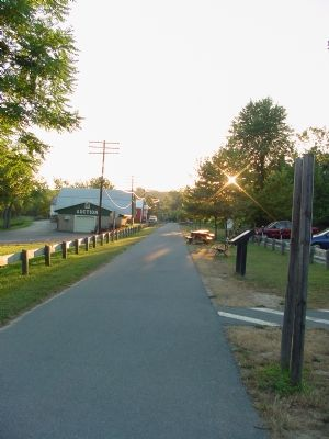 Western Maryland Rail Trail Westbound at Hancock Photo, Click for full size