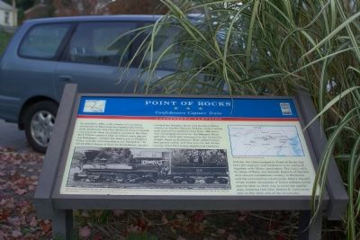 Point of Rocks<br>Confederates Capture Train Marker Photo, Click for full size