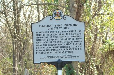 Planetary Radio Emissions Discovery Site Marker Photo, Click for full size