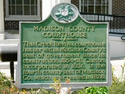 Madison County Courthouse Marker image. Click for full size.