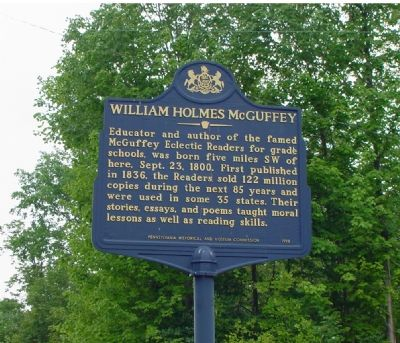 William Holmes McGuffey Marker image. Click for full size.