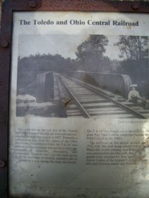 The Toledo and Ohio Central Railroad Marker image. Click for full size.