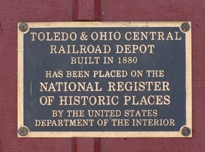 Plaque on Granville Depot image. Click for full size.