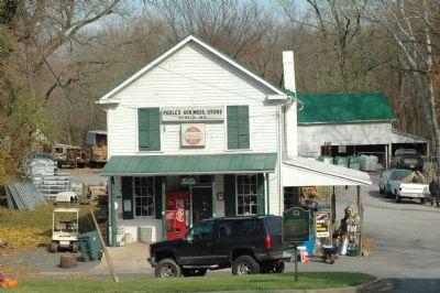 Poole's General Store and Marker image. Click for full size.