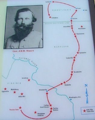 Close Up of Map on Marker image. Click for full size.