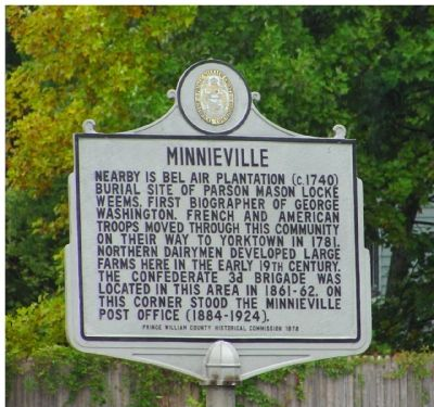 Minnieville Marker image. Click for full size.