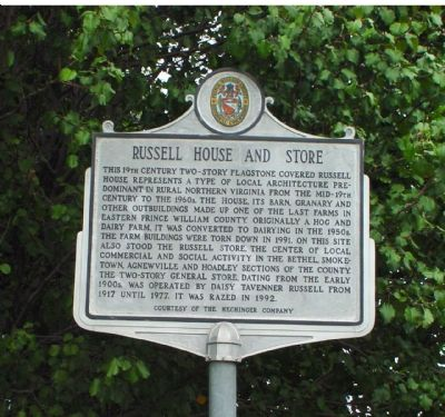 Russell House and Store Marker image. Click for full size.