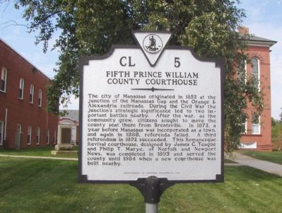 Fifth Prince William County Courthouse Marker image. Click for full size.