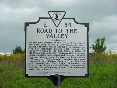 Road to the Valley Marker image. Click for full size.