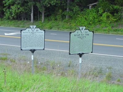 Two Markers on Bristow Road Photo, Click for full size