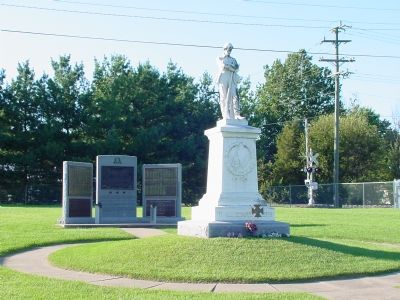 UDC Monument, Roster of Burials, Hospital Marker (center tablet) image. Click for full size.