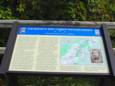 Jackson's 2nd Corps Established Marker Photo, Click for full size