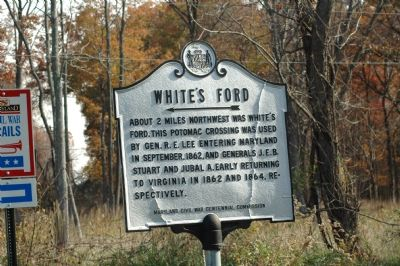 White�s Ford Marker Photo, Click for full size
