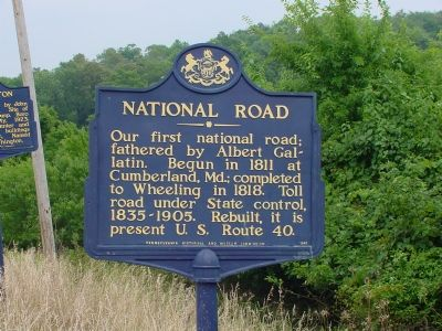 National Road Marker image. Click for full size.