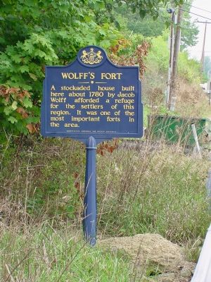 Wolff�s Fort Marker Photo, Click for full size