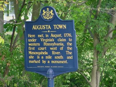 Augusta Town Marker image. Click for full size.
