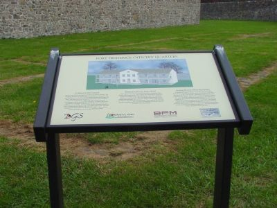 Fort Frederick Officers' Quarters Marker image. Click for full size.