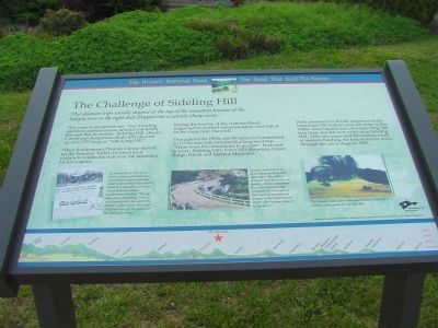 The Challenge of Sideling Hill Marker Photo, Click for full size
