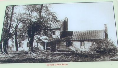 Detail on Marker – Locust Grove Farm image. Click for full size.