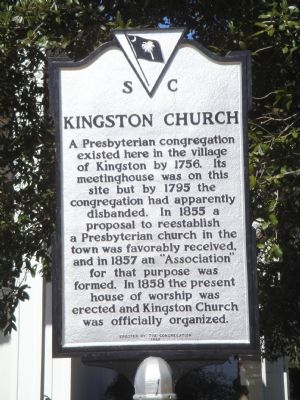 Kingston Church Marker image. Click for full size.