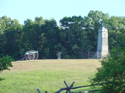 Telephoto View from the Groveton Confederate Cemetery image. Click for full size.