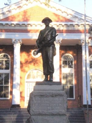 Loudoun County Confederate Memorial in front of the Court House Photo, Click for full size