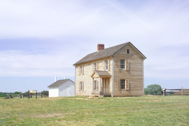 Henry House at the Invaded Farm, Rebuilt after the War image. Click for full size.