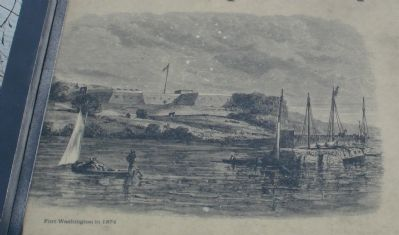 Fort Washington in 1874 image. Click for full size.