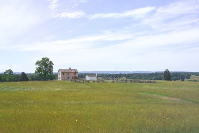 This Was Once the Henry Farm, With a View of the Bull Run Mountains image. Click for full size.