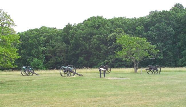 Two Cannon, Two Limbers, and the Marker Photo, Click for full size