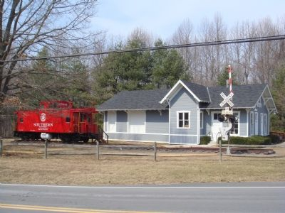 Fairfax Station and Southern Caboose image. Click for full size.