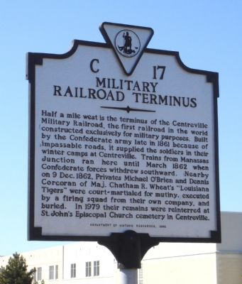 Military Railroad Terminus Marker image. Click for full size.
