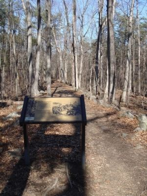 Marker on Deep Cut Trail Photo, Click for full size
