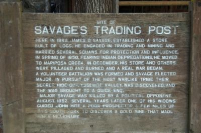 Site of Savage's Trading Post Marker image. Click for full size.