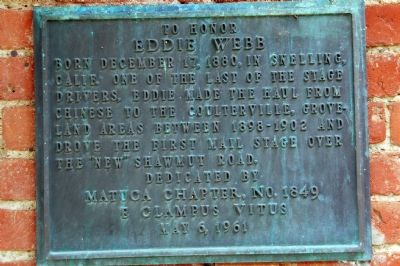 To Honor Eddie Webb Marker image. Click for full size.