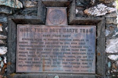 Mark Twain Bret Harte Trail - Mark Twain Cabin Marker Photo, Click for full size