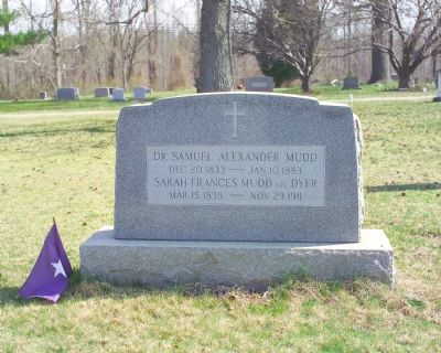 The Grave of Dr. and Mrs. Mudd image. Click for full size.