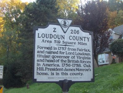 Loudoun County Side of Marker image. Click for full size.
