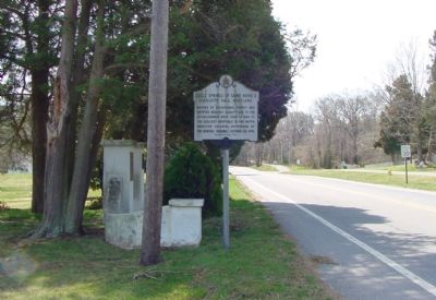 Coole Springs Gate and Marker Photo, Click for full size