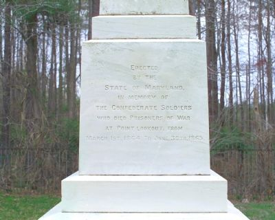 Front Inscription on State Monument Photo, Click for full size