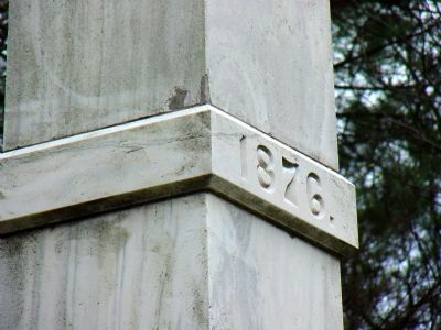 Marble Band High Up on the Obelisk Photo, Click for full size